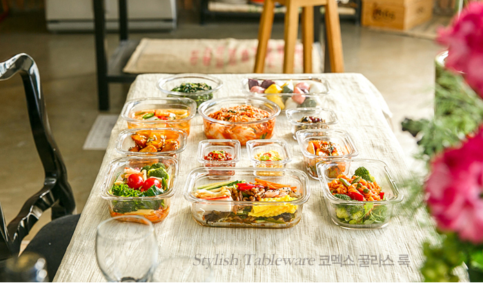 Hộp thủy tinh đựng thực phẩm 560ml Komax (nâu) - Hàn Quốc