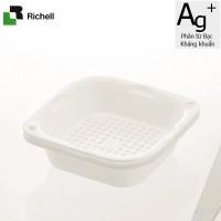 Set 2 khay rổ kháng khuẩn 1.3L Richell (Trắng) - Nhật Bản
