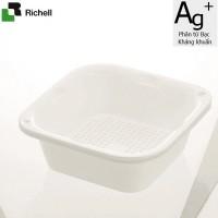 Set 2 khay rổ kháng khuẩn 630ml Richell (Trắng) - Nhật Bản