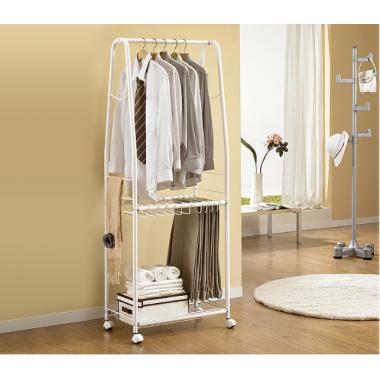 Bộ giỏ treo quần áo & giỏ để đồ 2 tầng Living Star - Hàn Quốc ( Xám )