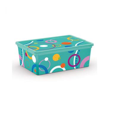 Hộp nhựa chứa đồ C-Box Style Bubbles S KIS - Ý
