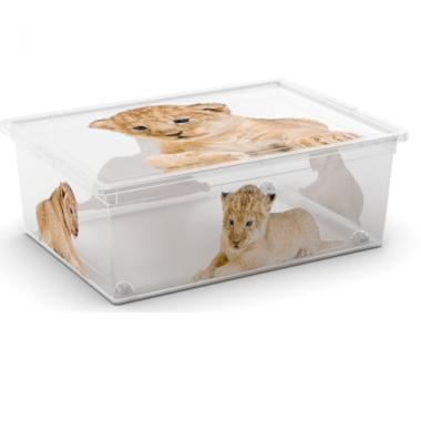 Hộp nhựa chứa đồ C-Box Style Wild L có bánh xe KIS - Ý