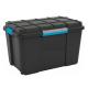 Hộp nhựa chứa đồ Scuba Box L - đen/ khóa xanh KIS - Ý