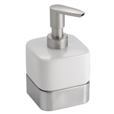 Bình đựng dầu gội, sữa tắm Gia (short, white) Interdesign - Mỹ