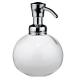 Bình đựng dầu gội, sữa tắm York (tròn, trắng) Interdesign - Mỹ