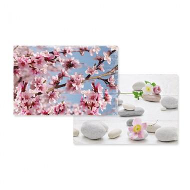 Tấm trải bàn nhựa họa tiết hoa đào (45x30)cm Nuova - Ý