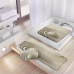 Thảm nhà tắm 37x92cm Pebble Kleine Wolke (màu be) - Đức