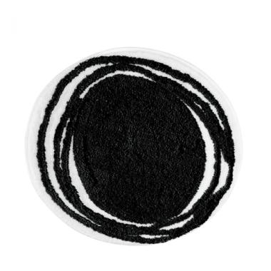 Thảm tròn màu đen Doodle Interdesign - Mỹ