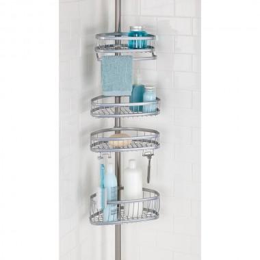 Giá để đồ nhà tắm York Caddy Interdesign (màu bạc)- Mỹ