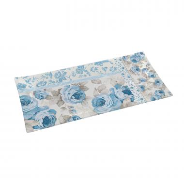 Khay CN họa tiết Blue Rose KT:36x17cm Nuova - Ý