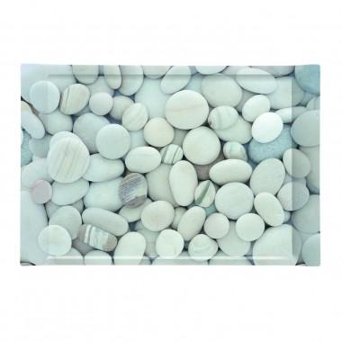 Khay nhựa hình chữ nhật họa tiết đá cuội Nuova - Ý