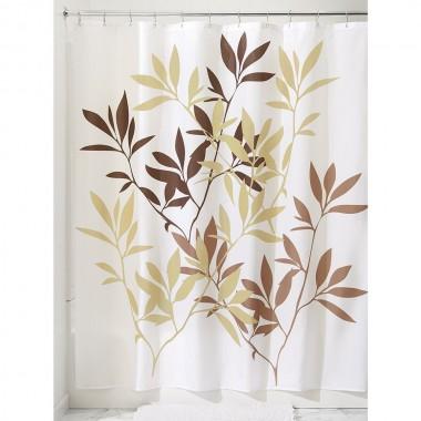 Rèm nhà tắm hình lá nâu Interdesign - Mỹ