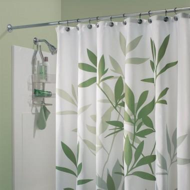 Rèm nhà tắm hình lá xanh 180x200 cm Interdesign - Mỹ