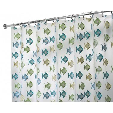 Rèm nhà tắm hình cá loại nhỏ 183x183cm Interdesign - Mỹ
