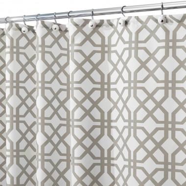 Rèm nhà tắm hình gạch 180x200cm Interdesign - Mỹ