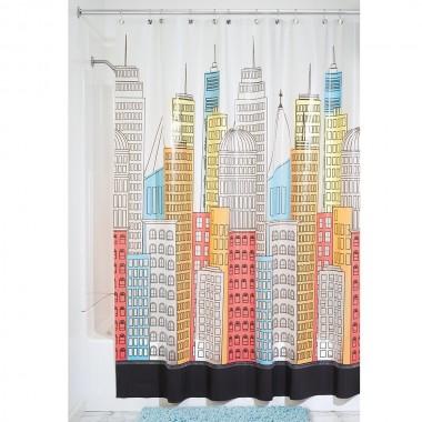 Rèm nhà tắm hình đô thị 180 x 200 cm Interdesign - Mỹ