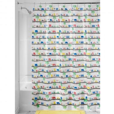 Rèm nhà tắm hình đường phố 180 x 200 cm Interdesign - Mỹ