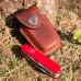 Bao da dao lưỡi gập 5-8c/năng màu nâu Victorinox - Thụy Sĩ