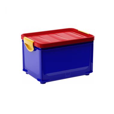 Hộp chứa đồ Clipper box S - xanh/nắp đỏ KIS - Italia