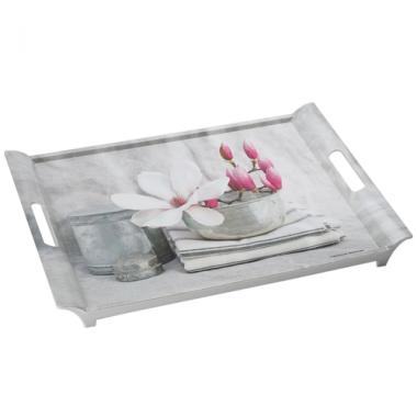 Khay nhựa melamin họa tiết bát hoa 300 cỡ L (49X34)cm Nuova - Ý